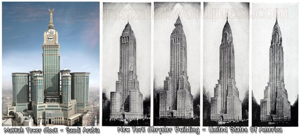 Kemiripan_bangunan_Makkah_tower_clock_dgn_Chrysaler_New_york_Amerika