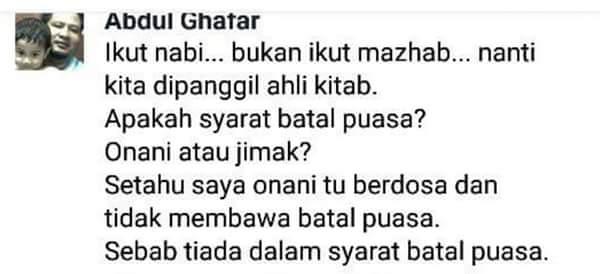Kata Salafy Onani tidak Batal Puasa