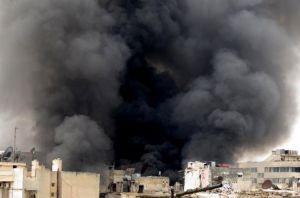 ledakan di masjid syiria