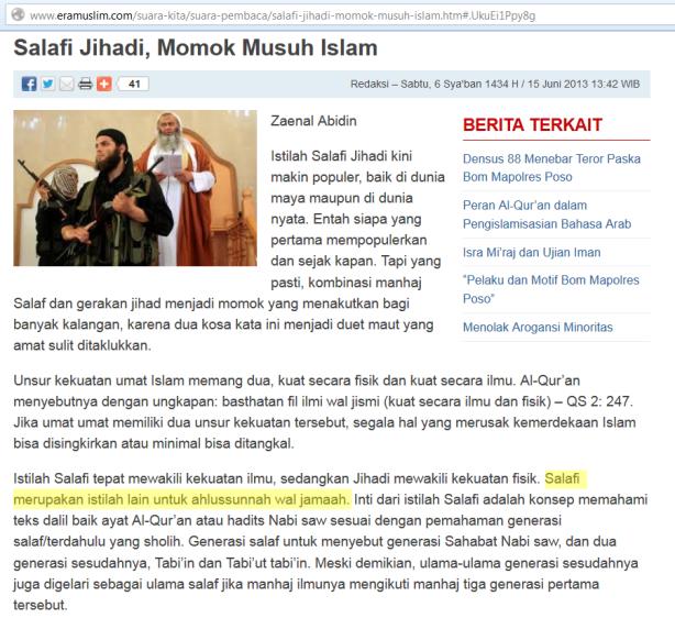 "Tidak pede dengan istilah ""Salafy"" kembali mengakui ""Ahlus sunnah Wal jama'ah"""