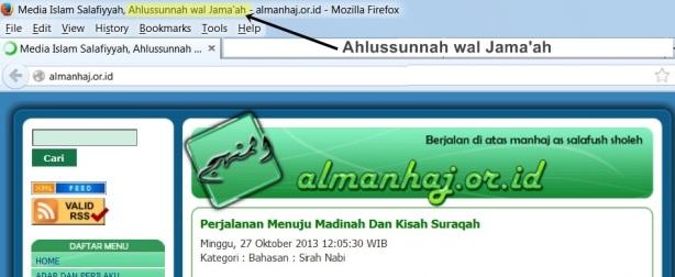 """Web Salafy almanhaj sekarang menambahkan kata """"Ahlus sunnah wal jama'ah"""" yang dahulu mereka """"Salafy"""" alergi menggunakannya"""