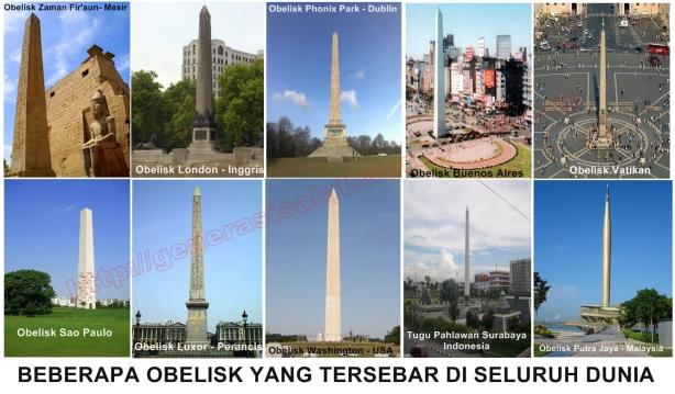 obelisk diseluruh dunia, dipercaya masih ada ratusan Obelisk tersebar diseluruh dunia