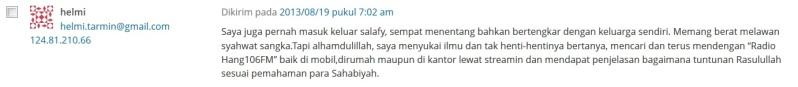 Pendengar setia kajian Radio salafy