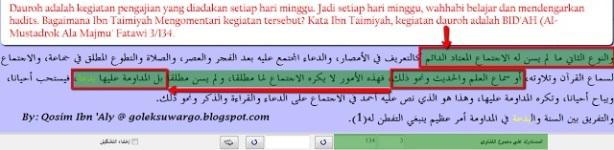 scan kitab ibnu taimiyah dauroh ahad-minggu