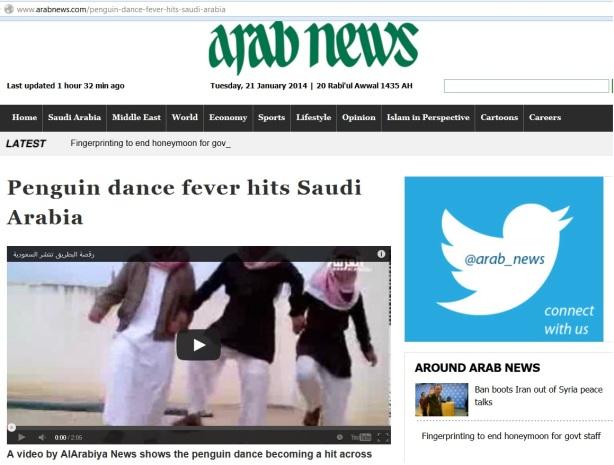 Goyang Pinguin (mungkin di Indonesia ky YKS) begitu tenar di Saudi Arabia