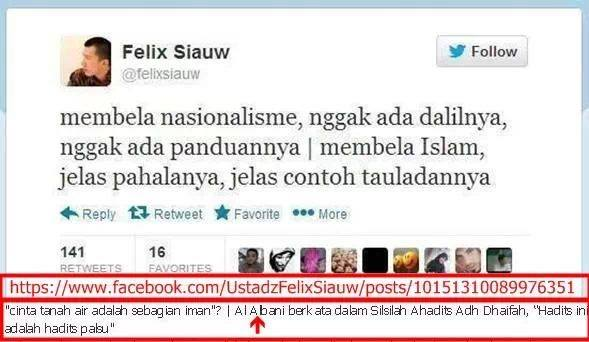 Pernyataan Ustad Felix Siaw yang didasari Copas & tanpa Ilmu