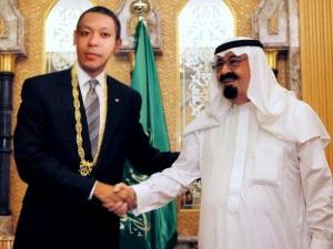 Raja Saudi Arabia, Abdullah bin Abdul Aziz dan Presiden Sarkub Baba Naheel