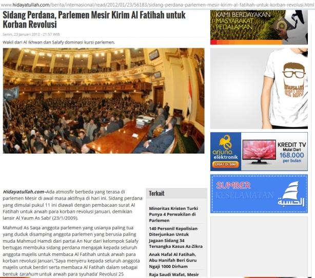 Salafy Mesir Kirim Alfatihah