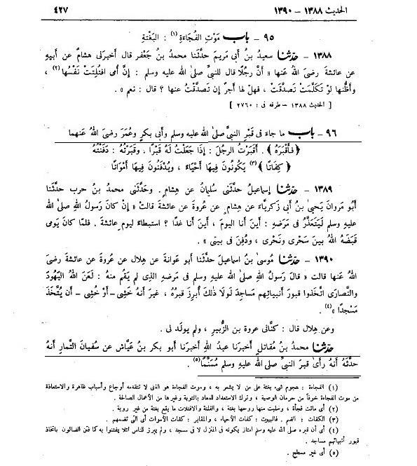 Scan Kitab Shohih Bukhori - Hal Meninggikan Kuburan
