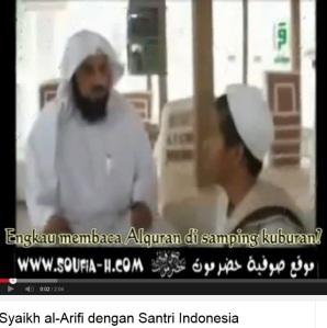 dialog syekh al arifi dengan santri indonesia
