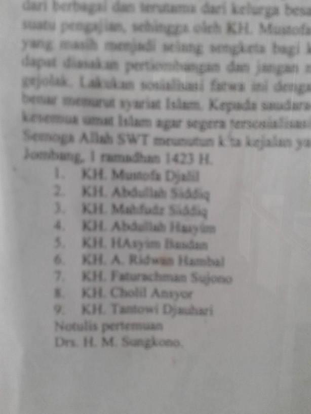 Salafy - Wahabi Mencatut nama Kyai & berbohong