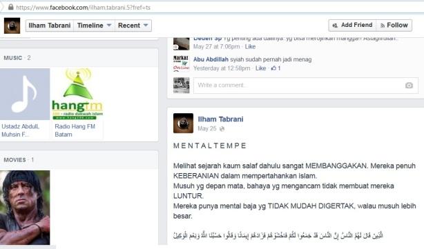 Dai Salafy : Mental Tempe & ahli Ramal kepada Salafy yang ikut & menganjurkan Pemilu
