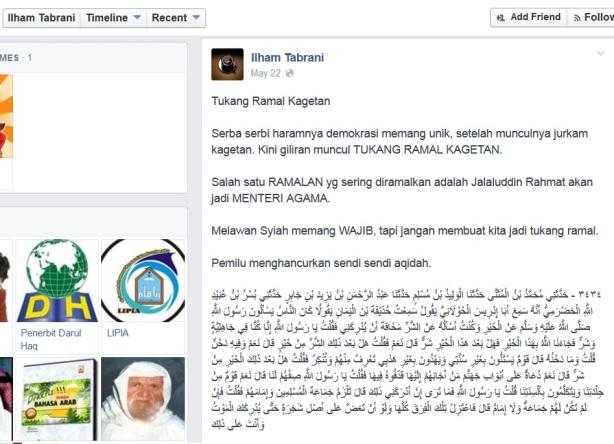 Dai Salafy : Salafy penganjur & pengikut Pemilu adalah tukang ramal Kagetan