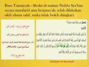 Menghidupkan malam Nisfu Sya'ban Menurut Ibnu Taimiyah