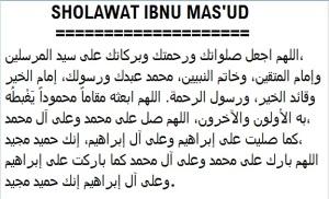 Sholawat Ibnu Mas'ud