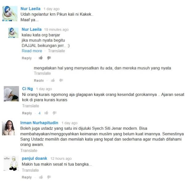 Na'udzubillah, berikut Komentar - komentar buruk terhadap Prof. QS