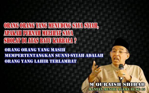 Quraish Shihab Syi'ah kah
