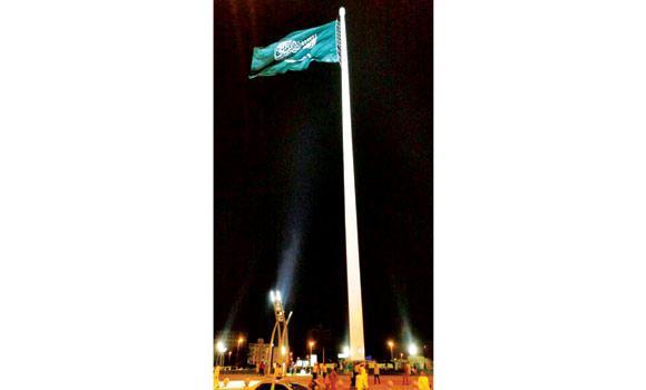 Pengibaran Bendera di Tiang tertinggi yang pernah ada