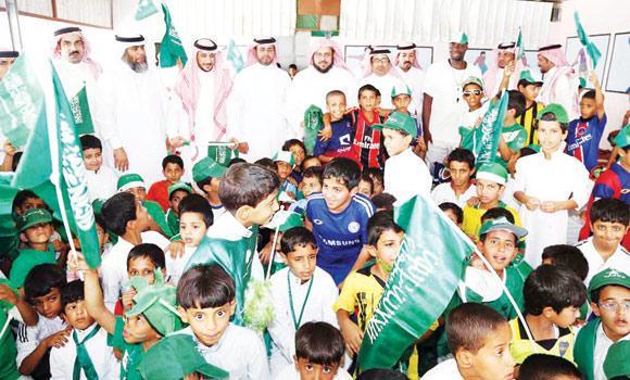 Guru dan Murid TK bergabung memeriahkan hari Maulid Saudi