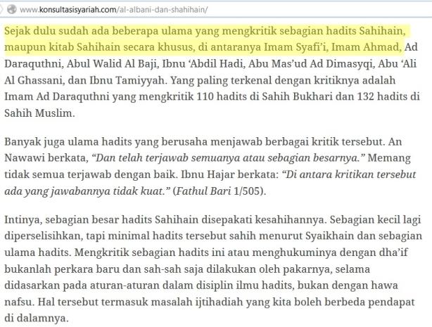 Imam Syafi'i mengkritik Shahih ain