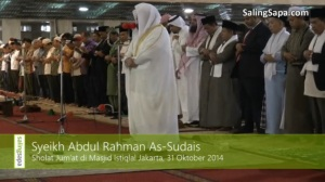Syekh Sudais menjadi Imam di Indonesia