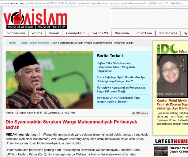 Din Syamsuddin serukan Muhammadiyah perbanyak Bid'ah