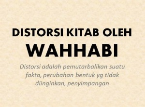 Distorsi Kitab oleh Wahhabi