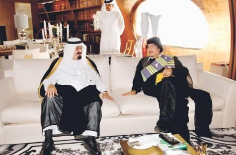 Qadafi & Raja Saudi