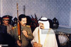 Raja saudi & Sadam Husein