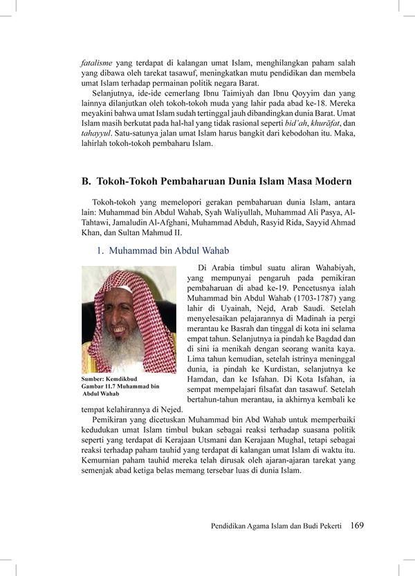 M. Abdul Wahab Belajar Filsafat & Tasawwuf, dan lahir di Najd (Arab Saudi)