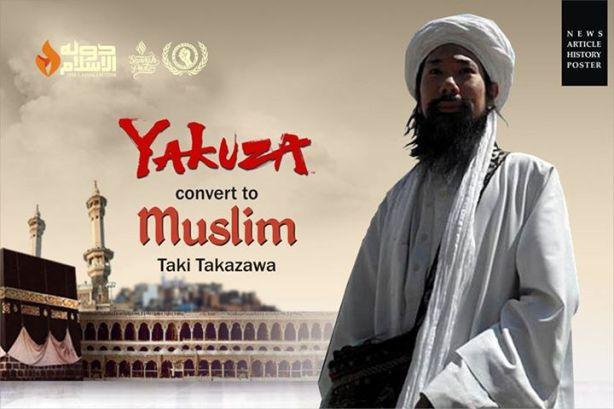Taki Takazawa (sekarang Abdullah) Tokoh Yakuza Jepang yang di perkenalkan Islam oleh Syekh Ni'matullah