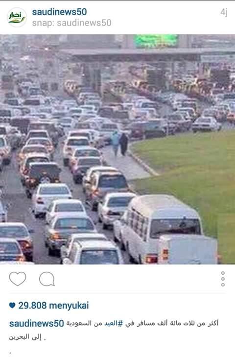 Lebih dari 300 ribu orang Saudi pergi ke Bahrain