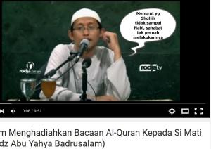 Hukum menghadiahkan pahala bacaan Al-Qur'an kepada si mati