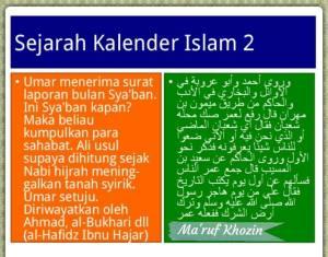 Bid'ah Hasanah - Kalender Hijriah -02