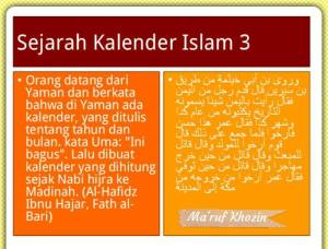 Bid'ah Hasanah - Kalender Hijriah -03