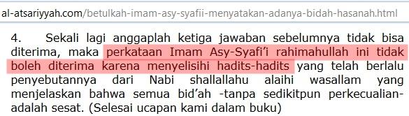 Imam Syafi'i Bid'ah hasanah