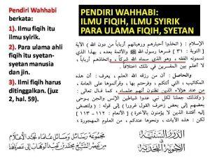 Cacian Ulama Salafy - Wahabi