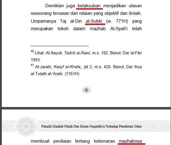 Salafy Menuduh Ulama Syafi'i Ta'ashub Madzhab